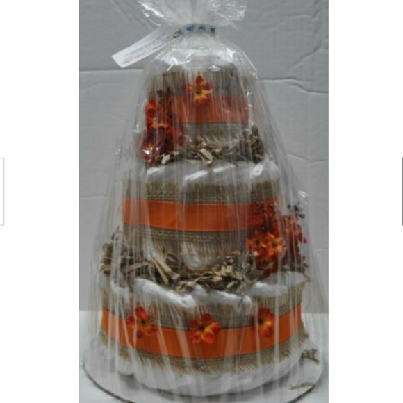 Handmade Other - Fall Theme Diaper Cake for Baby Shower with Burlap